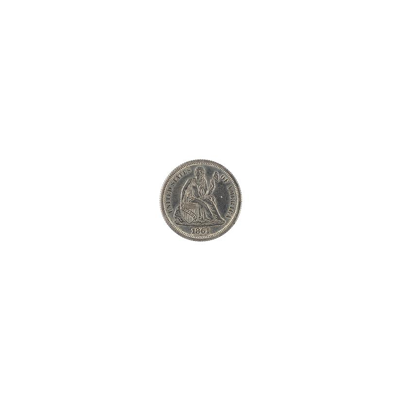 Image: 1861 Seated Liberty Dime