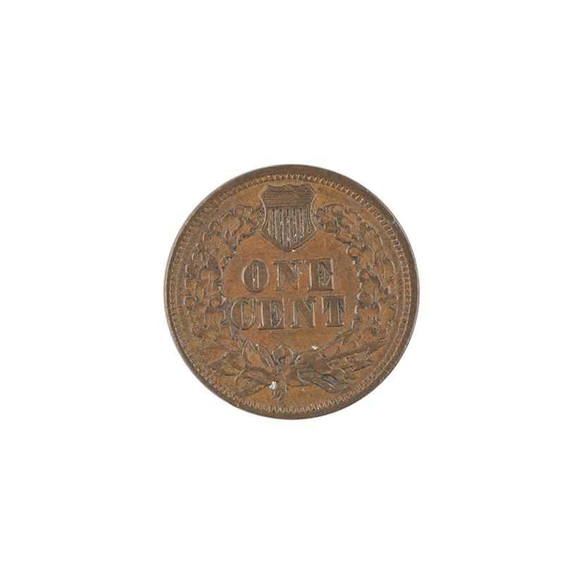 Image: 1865 Indian Head One-cent coin