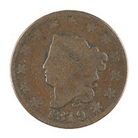 Image: 1819 Liberty Head One-cent coin