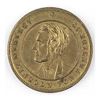 Image: Abraham Lincoln campaign token