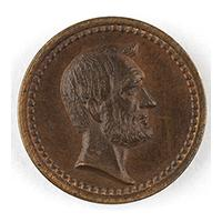 Image: Small President Abraham Lincoln and GOP Token
