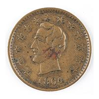 Image: 1864 Lincoln Patriotic Token