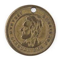 Image: Abraham Lincoln for President 1864 campaign medal