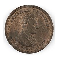 Image: Abraham Lincoln Born Feb. 12, 1809 campaign medal