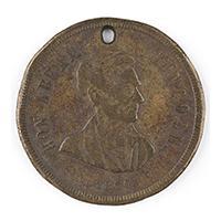 Image: Hon. Abram Lincoln 1860 campaign medal
