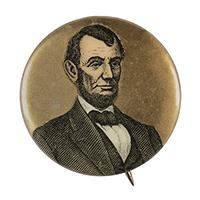 Image: 33mm Lincoln pinback button