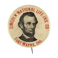 Image: 23 mm Lincoln celluloid pinback button